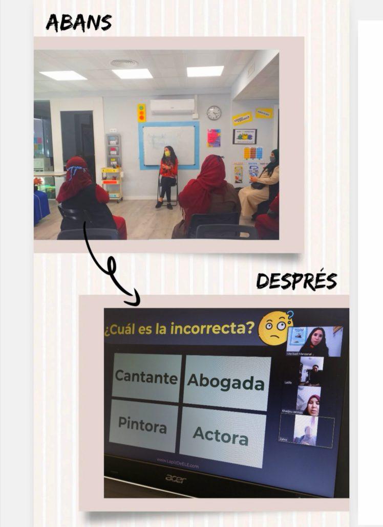 abans i despres classe llengües